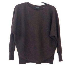 All Saints Dark Burgundy 100% Merino Wool Sweater